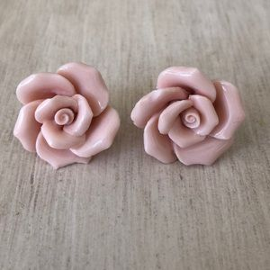 Blush Rose Stud Earrings